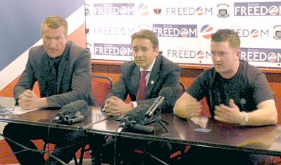 Kevin Carroll, Paul Weston, and Tommy Robinson