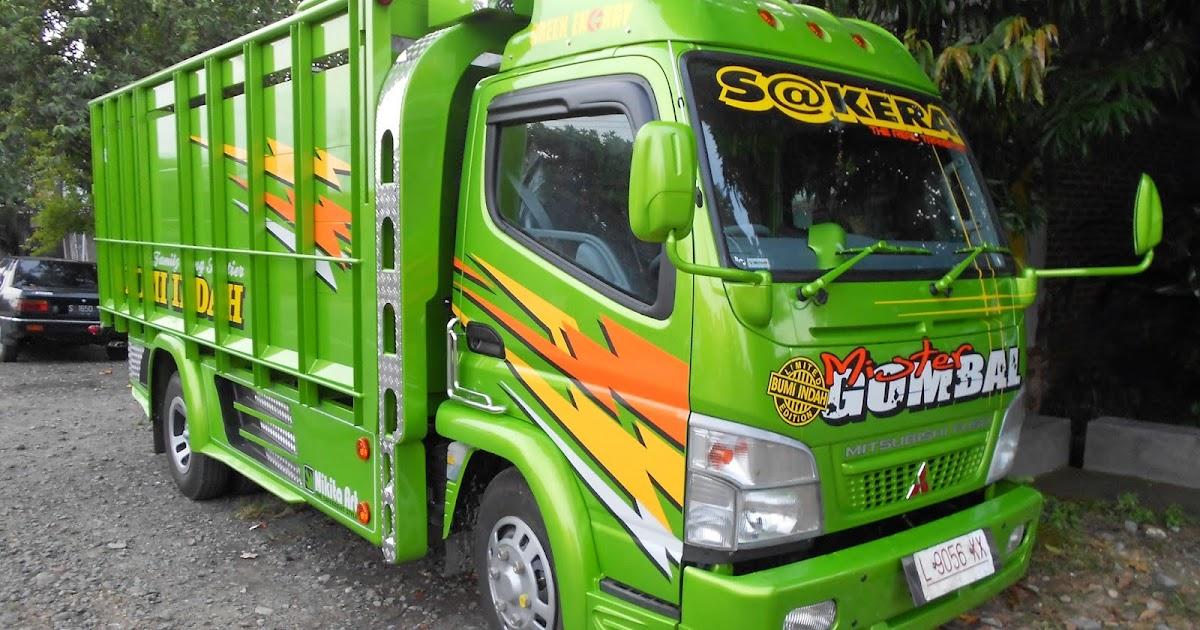 Foto gambar modifikasi mobil truck canter jawa 125 hd ala transformer
