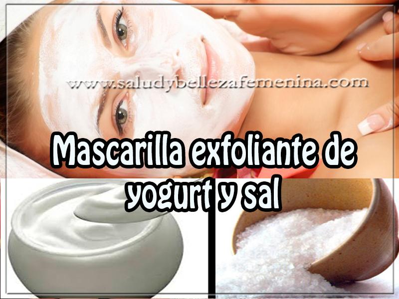 Tips de belleza , cuidados del rostro, mascarilla exfoliante de yogurt y sal