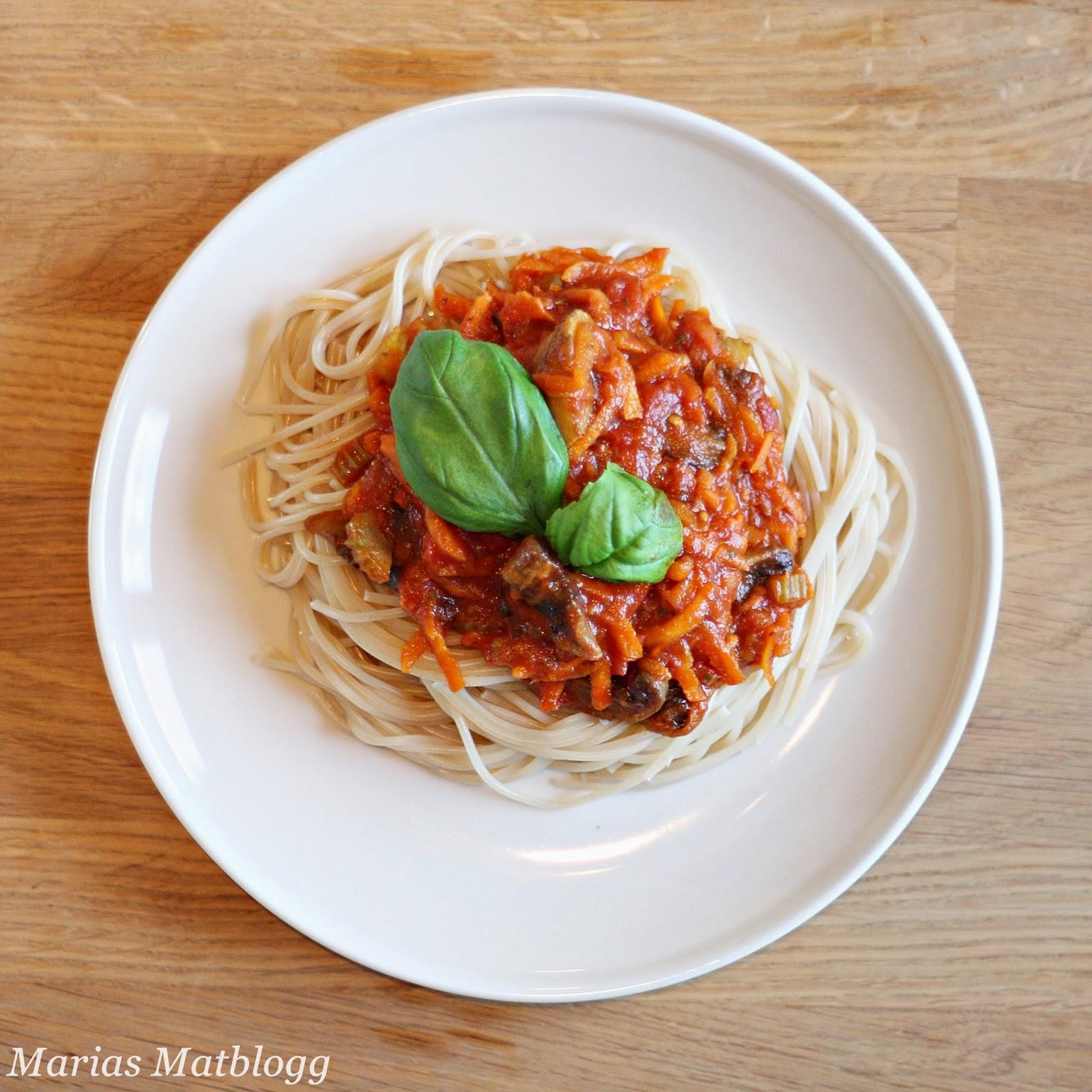 Vegetar spaghetti tomatsaus