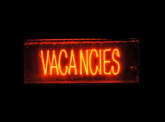 vacancies, urban photography, contemporary, art, photo, neon sign