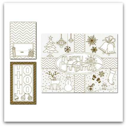 Stampin' Up! Color Me Christmas Digital Download Template