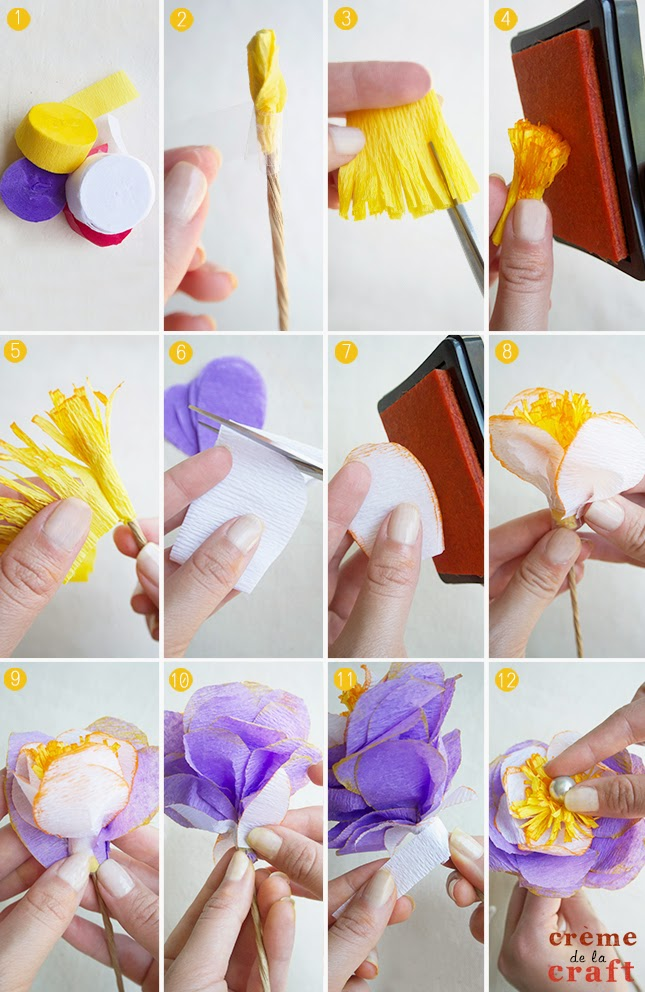 Diy Crepe Paper Flowers From Party Streamers