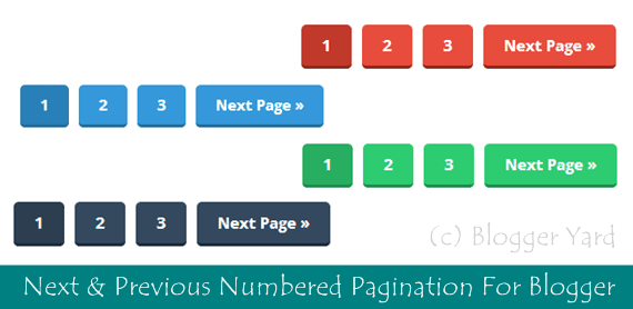 Next & Previous Numbered Pagination in Blogger