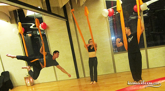 I am Aileen - Beyond Yoga Grand Launch Bonifacio High Street Antigravity Yoga
