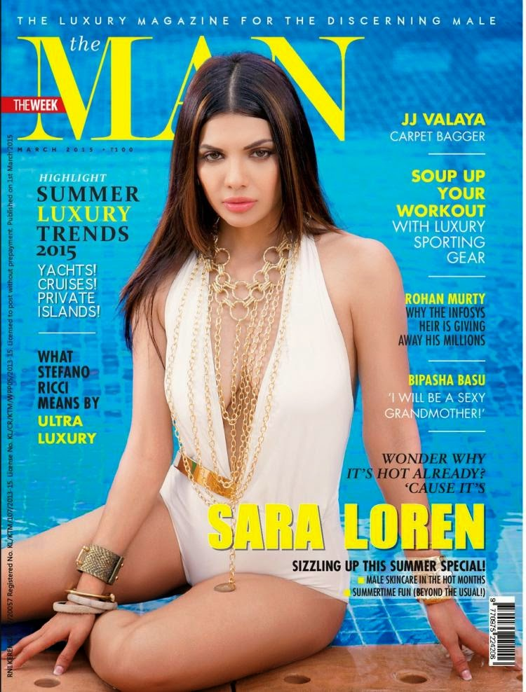 Hot Babe Sara Loren Steams up Man Magazine March 2015 Issue Cover