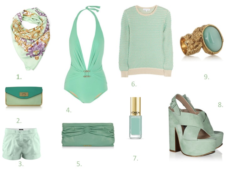 clutch, mint color, pastel, fashion, list, must have spring 2012