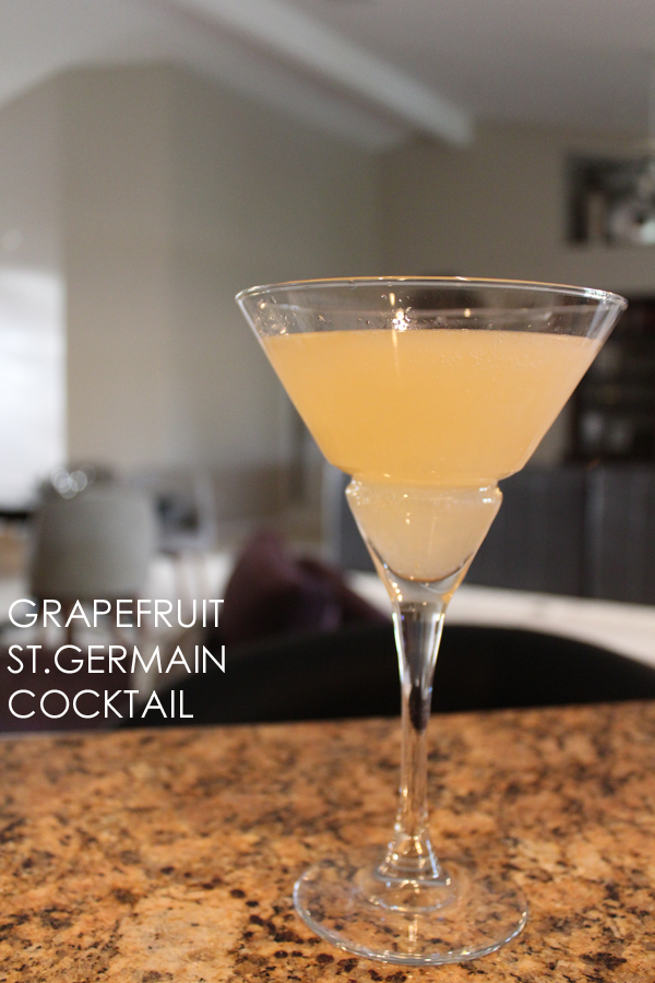 grapefruit st. germaine cocktail