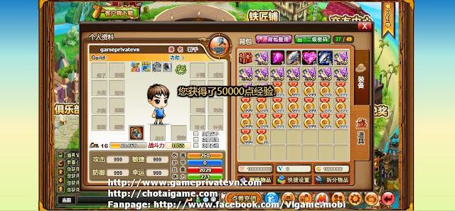 Hình ảnh trong game gunny lau TQ