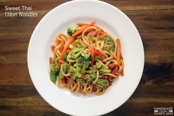 Sweet Thai Udon Noodles