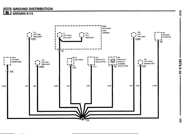 Repairmanuals Bmw 525i525it535im5 1993 Electrical: Bmw 525 Wiring Diagrams At Diziabc.com