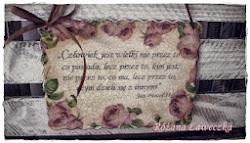 Tabliczka szczęścia od Różanej ławeczki