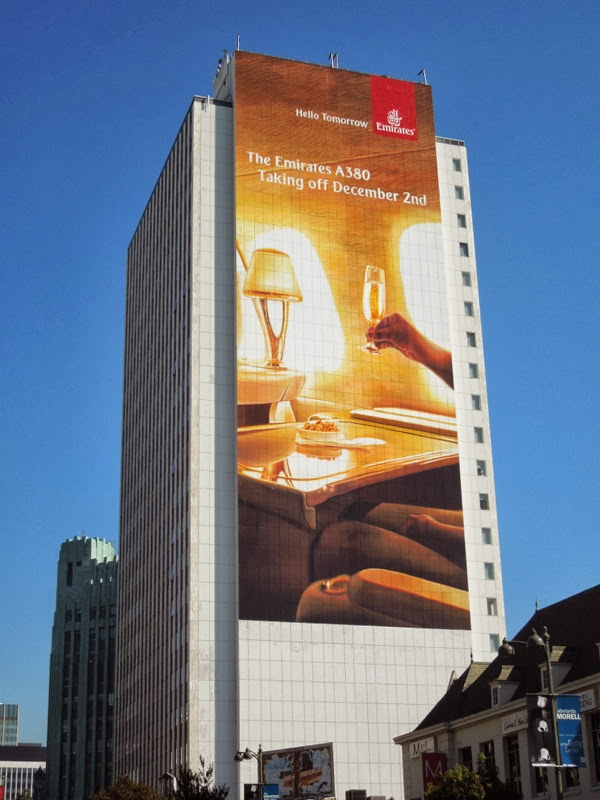 Giant Emirates A380 billboard