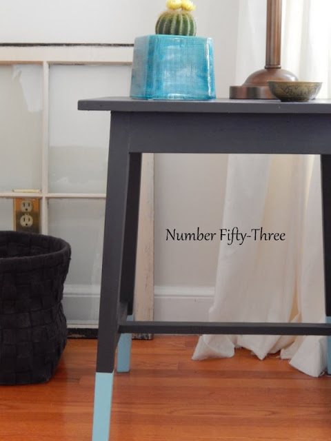 Number fifty three dip dyed end table