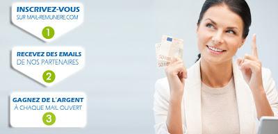 Inscrivez vous et recevez des emails publicitaires rémunérés