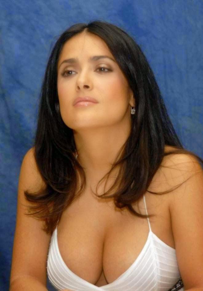 Salma Hayek Sexy Cleavage Stills