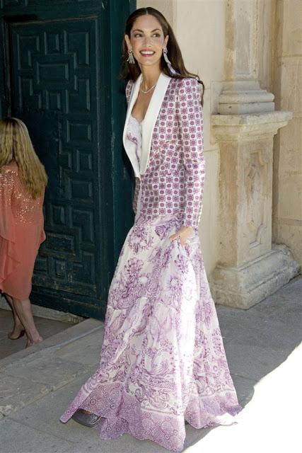 Eugenia Silva en la boda de Israel Bayón