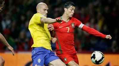 Xem lại đầy đủ trận Thụy Điển vs Bồ Đào Nha