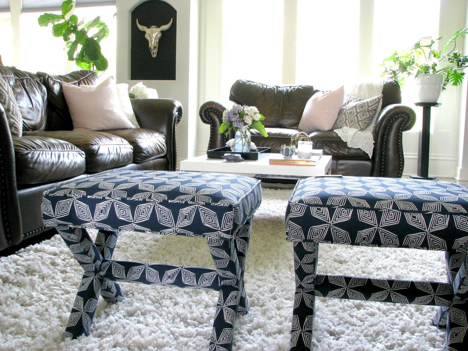 Life Love Larson: Decorating Around Dark Leather Sofas