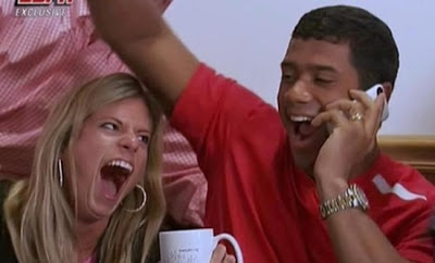 Russell Carrington Wilson and his wife Ashton Meem