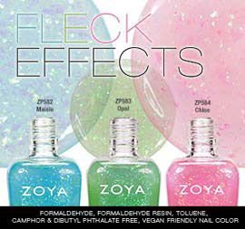 Zoya Nail Polish: Fleck Effect Trio