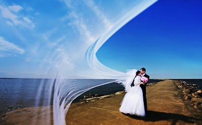 Свадебное фото: гавань счастья