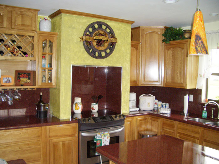 Kitchen and bath cabinets vanities home decor design ideas for Oak kitchen designs photos