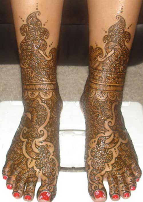 Mehndi Leg Designs : Mehndi designs for legs all about