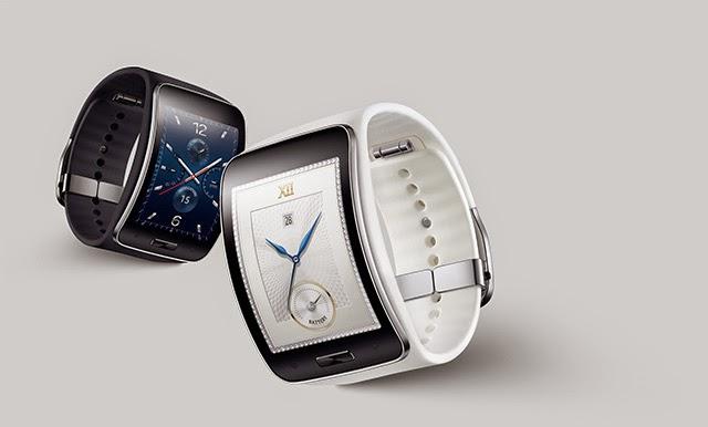 Black White Samsung Gear S Smart Watch