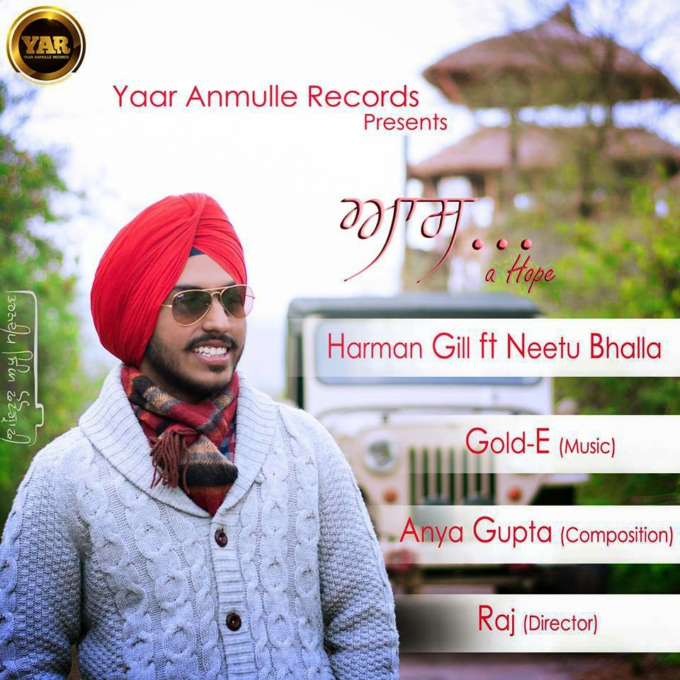 Aas-Hope-Lyrics-Harman-Gill-hd-video-mp3download-yaar-anmule-records
