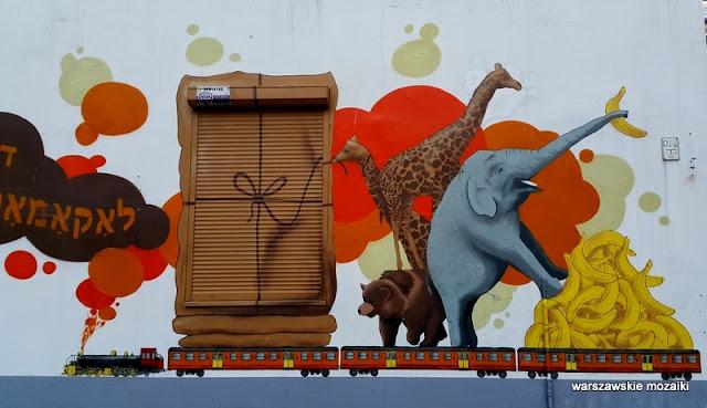 Warszawa warszawskie murale Plac Grzybowski