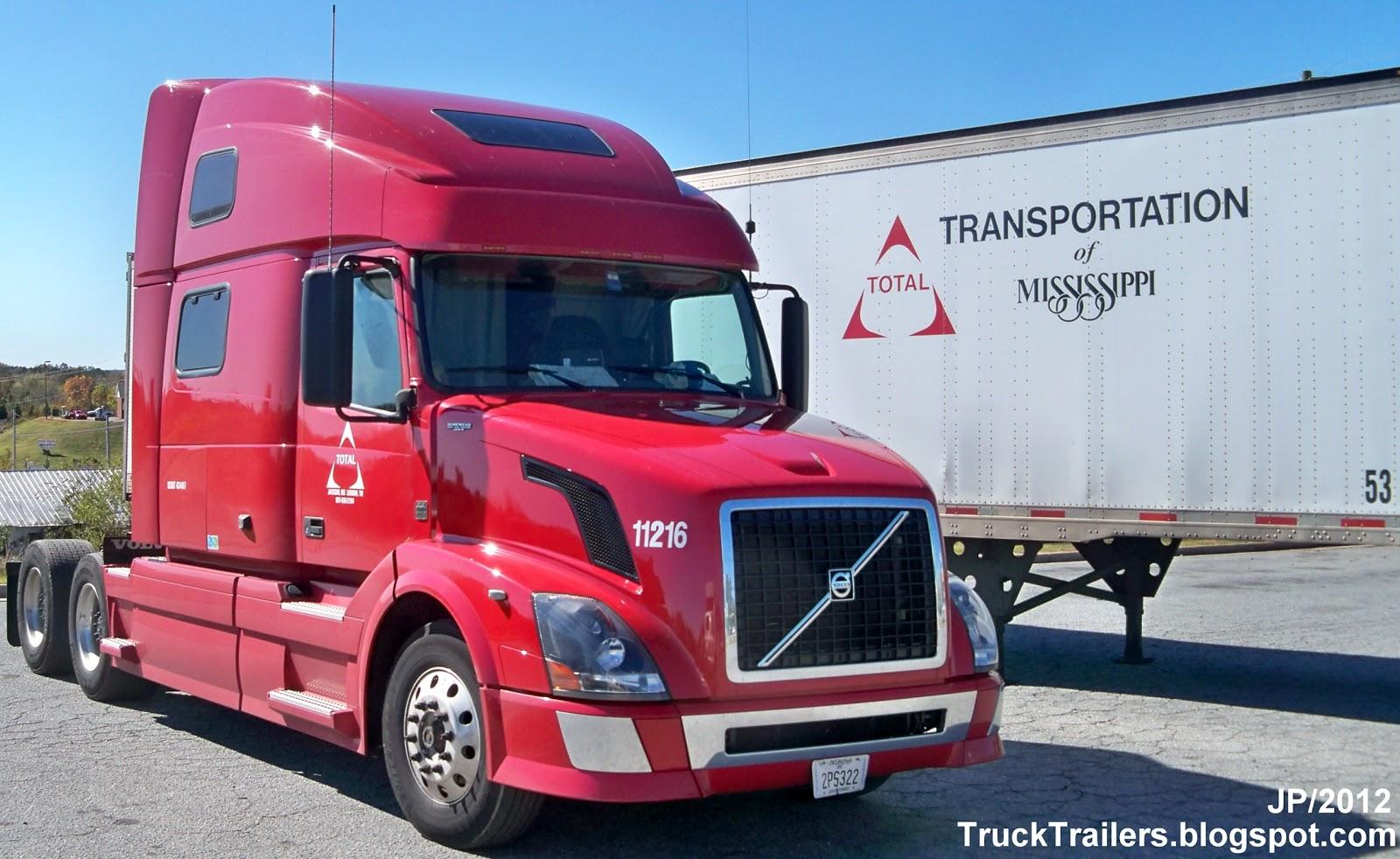Total transportation of mississippi volvo sleeper cab truck 53 van trailer total transportation jackson ms loudon tn