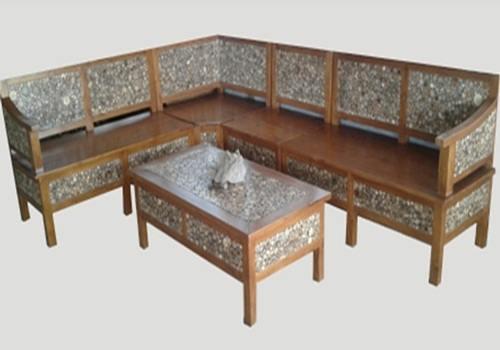 Design Kursi Tamu Sudut Dari Kayu Bambu Dan Sofa Modern Minimalis ...