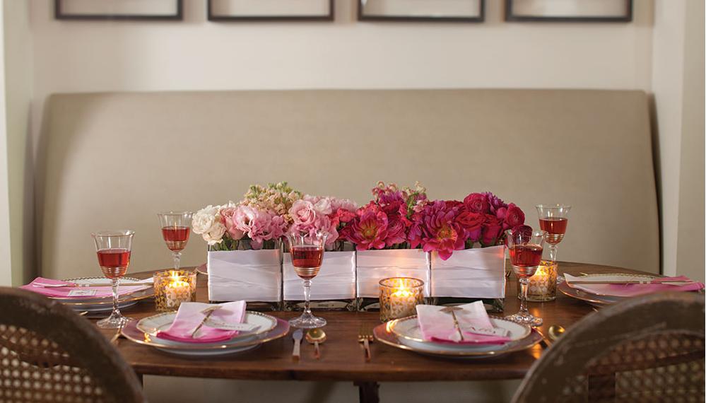 Inspiracion para decorar la mesa de san valentin for Decoracion mesa san valentin