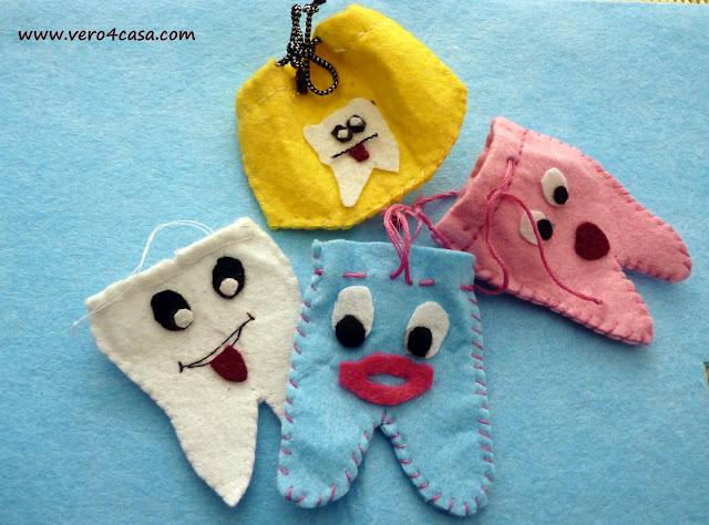 bolsitas guarda dientes fieltro