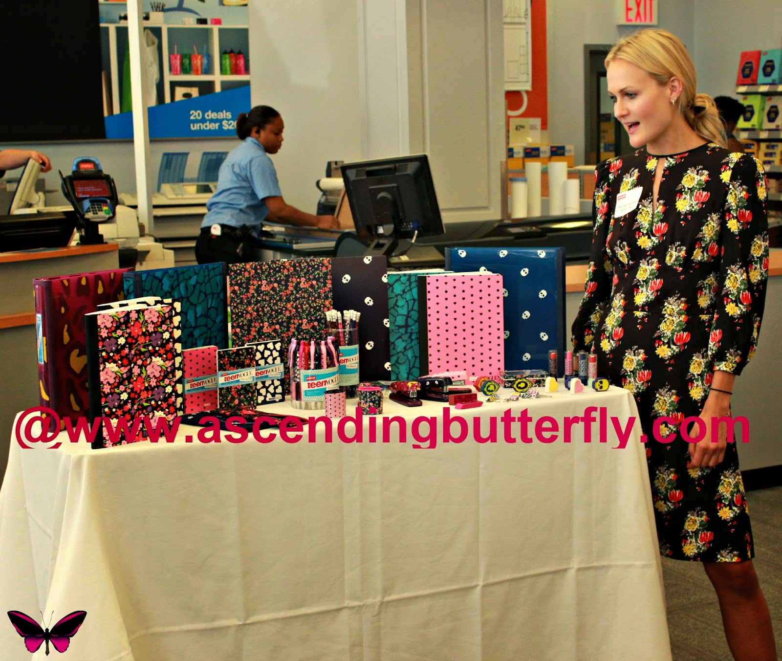 Amy Astley, Editor-in-Chief of Teen Vogue Magazine introduced us to the Teen Vogue Collection for Staples