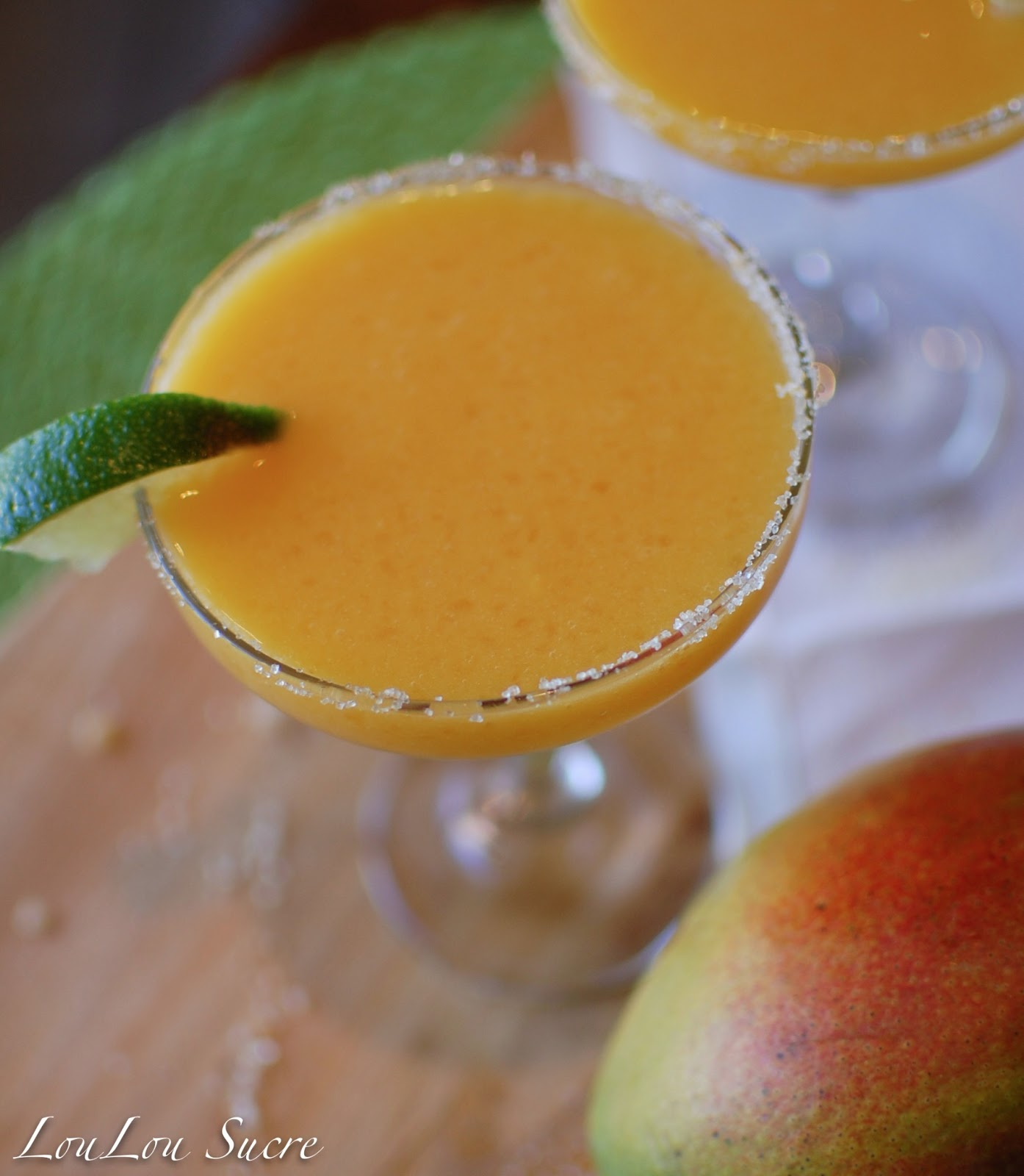 ... : Thirsty Thursday--Frozen Mango Margaritas with Ginger Orange Sugar