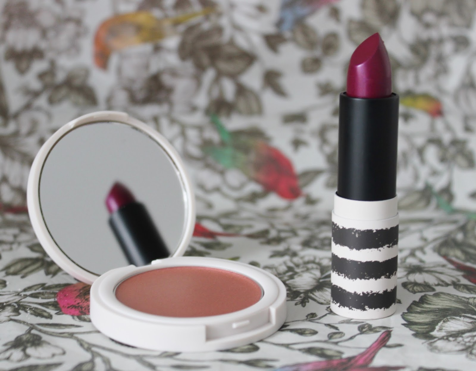 Topshop metallic makeup - Drive lipstick and pulse blusher