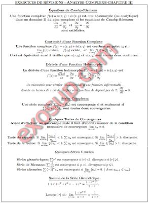Cours analyse 3 fonctions holomorphes continuité dérivée et séries complexes SMP3