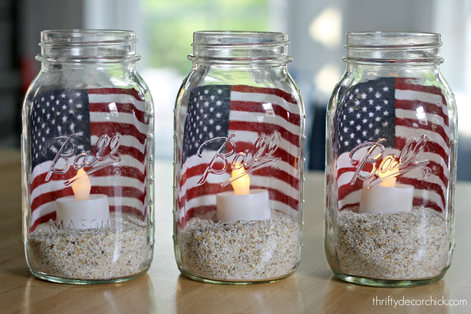 4th of July easy candle