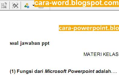 Cara Edit PDF Dengan Foxit   Cara Word