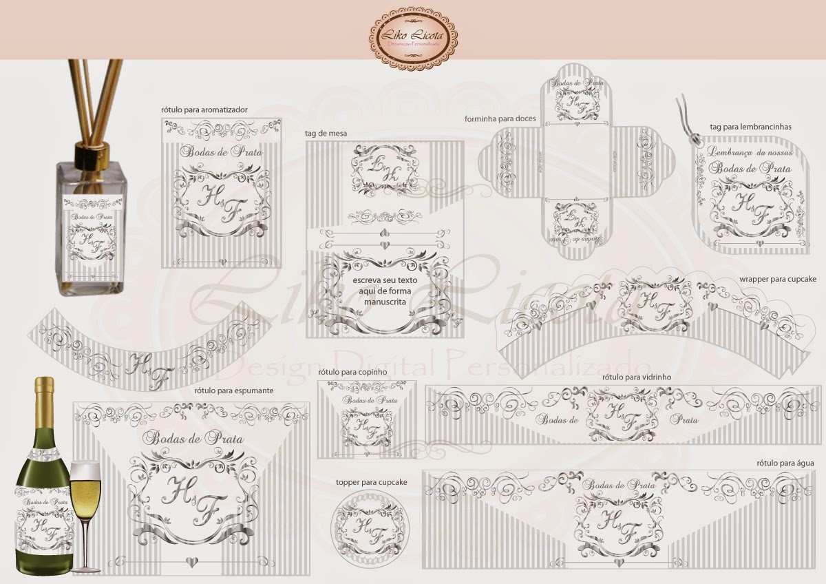 adesivos personalizados bodas de prata