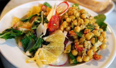 Chickpea Salad with Mint and Asparagus