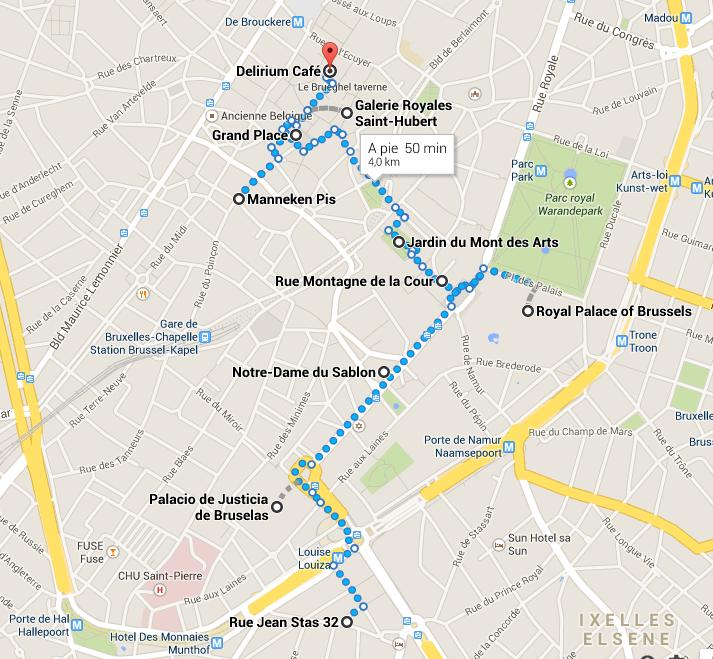 Itinerario por Bruselas