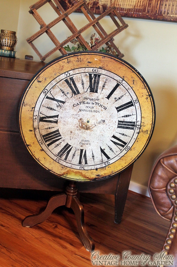 Creative Country Mom Repurposed Clock Face Into Folding