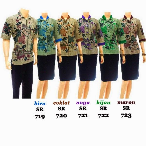 SR719-723 Grosir Baju Batik pasangan/Couple 2014