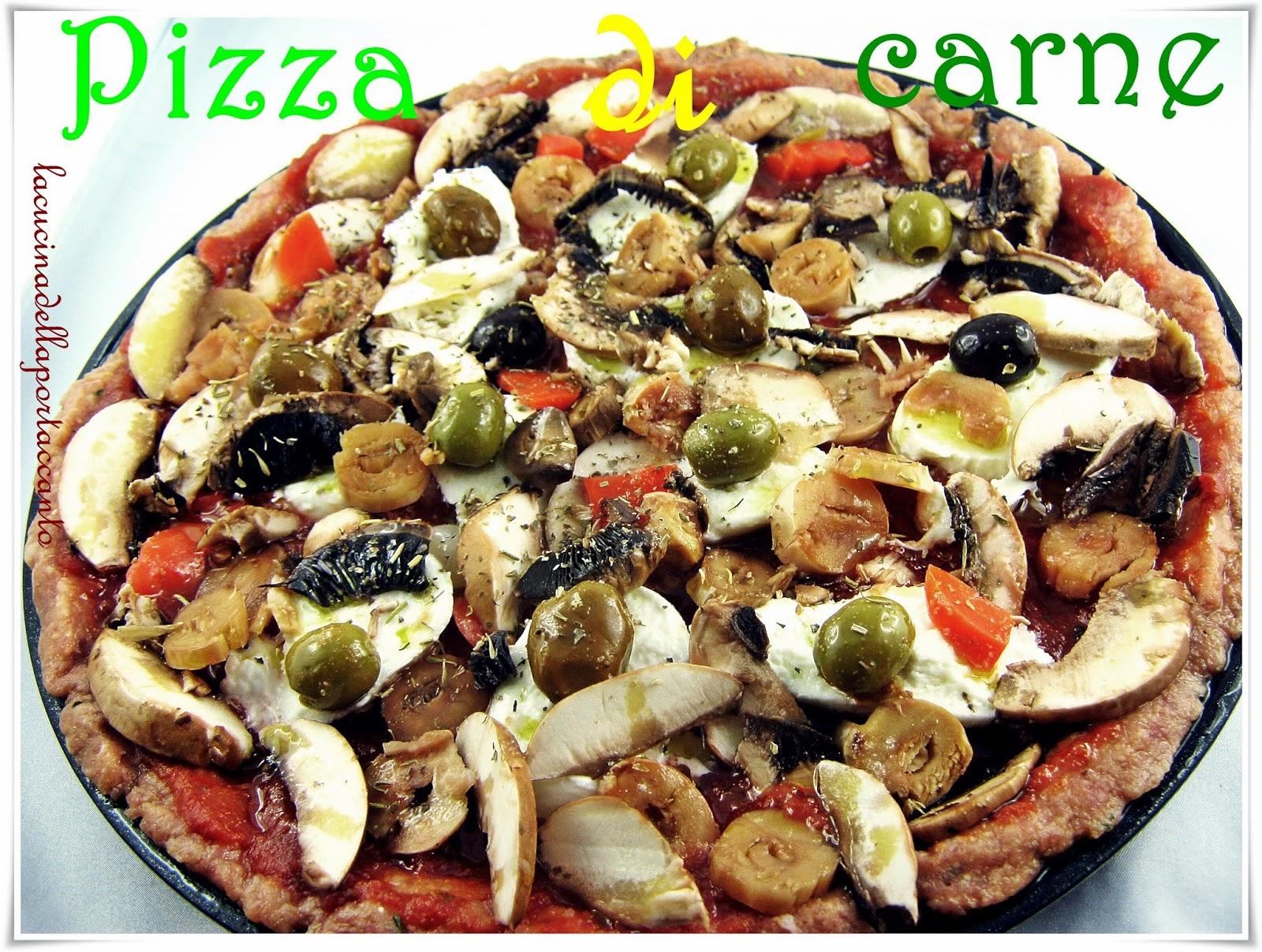 pizza di carne di nigella a modo mio