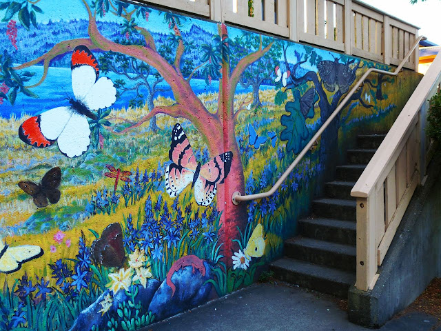 Butterfly wall  (detail right) - Ganges, Salt Spring Island, BC