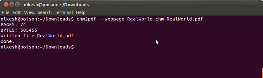 linux how to return to command line from help file