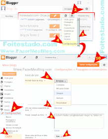 Como configurar e ativar feeds em blogs, sites e blogspot do blogger na nova interface atualizada